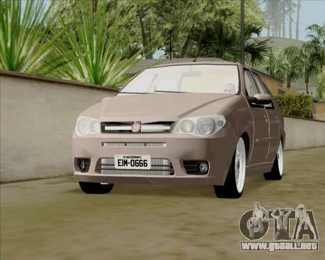 Fiat Siena 2008 para la visión correcta GTA San Andreas