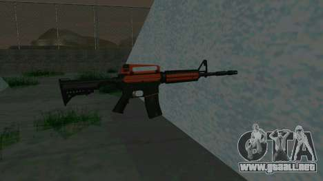 Orange M4A1 para GTA San Andreas tercera pantalla
