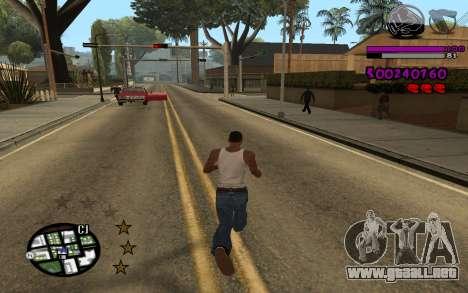 C-HUD by LoMoKo para GTA San Andreas segunda pantalla