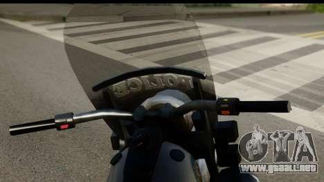 Police Bike GTA 5 para GTA San Andreas vista posterior izquierda