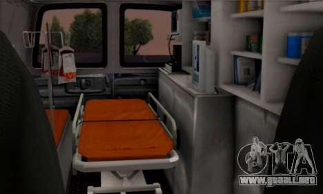 Chevrolet Exspress Ambulance para GTA San Andreas vista hacia atrás
