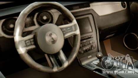 Ford Shelby GT500 RocketBunny para GTA San Andreas vista hacia atrás