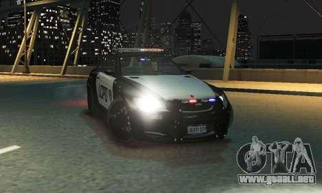 GTA V Ubermacht Sentinel Police [ELS] para GTA 4 Vista posterior izquierda