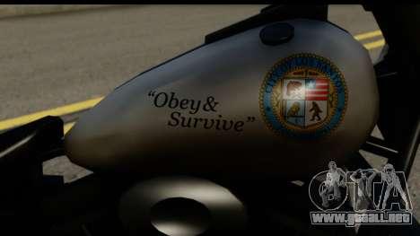 Police Bike GTA 5 para la visión correcta GTA San Andreas
