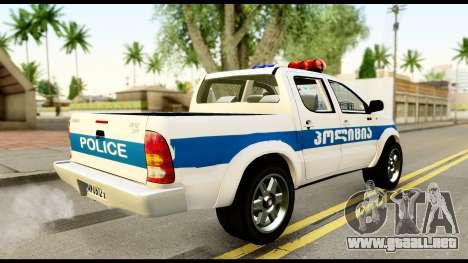 Toyota Hilux Georgia Police para GTA San Andreas left