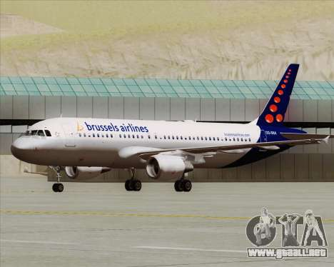 Airbus A320-200 Brussels Airlines para GTA San Andreas left