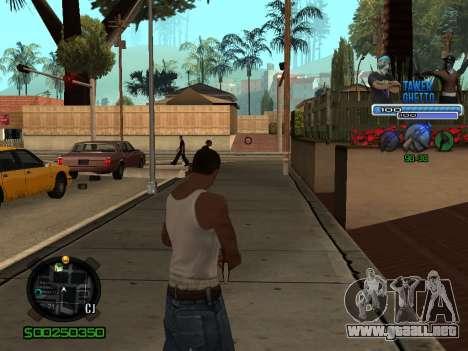 C-HUD для Ghetto para GTA San Andreas tercera pantalla