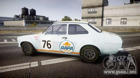 Ford Escort RS1600 PJ76 para GTA 4 left