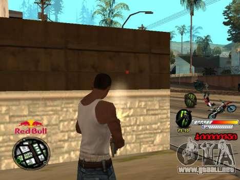 С-HUD RedBull para GTA San Andreas tercera pantalla