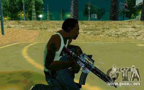 M4A1 (Looney) para GTA San Andreas sucesivamente de pantalla