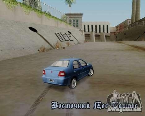 Fiat Siena 2008 para la vista superior GTA San Andreas