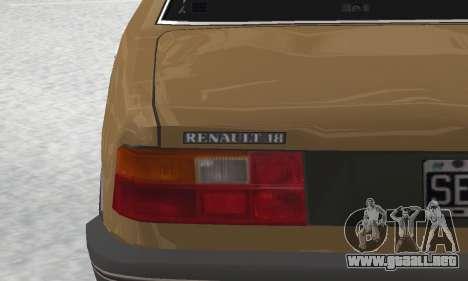 Renault 18 para la vista superior GTA San Andreas