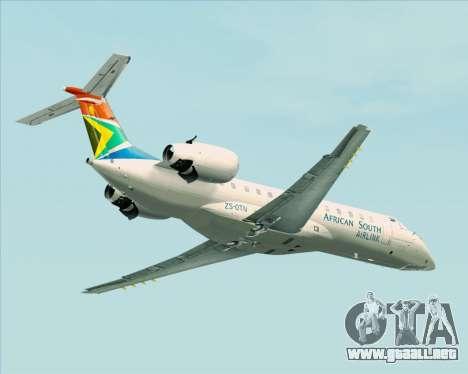 Embraer ERJ-135 South African Airlink para GTA San Andreas vista hacia atrás
