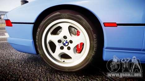 BMW E31 850CSi 1995 [EPM] para GTA 4 vista hacia atrás