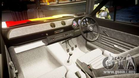 Ford Escort RS1600 PJ93 para GTA 4 vista interior