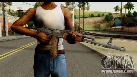 AKS-74 de Madera Oscura para GTA San Andreas tercera pantalla