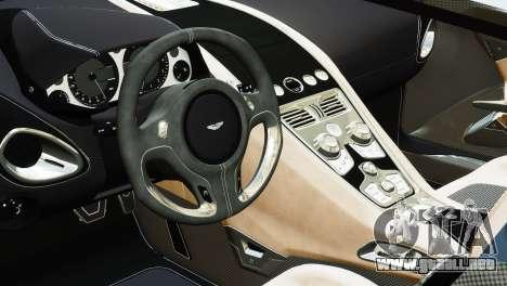 Aston Martin One-77 2010 [EPM] para GTA 4 Vista posterior izquierda