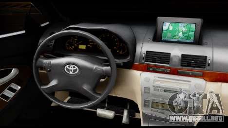 Toyota Camry 2013 para visión interna GTA San Andreas