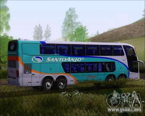 Marcopolo Paradiso G6 1800DD 8x2 SCANIA K420 para GTA San Andreas vista hacia atrás