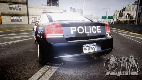 Dodge Charger 2006 Algonquin Police [ELS] para GTA 4 Vista posterior izquierda