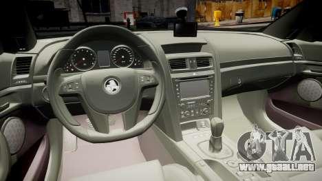 Holden Commodore Omega Series II Taxi v3.0 para GTA 4 vista hacia atrás