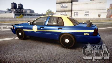 Ford Crown Victoria Virginia State Police [ELS] para GTA 4 left