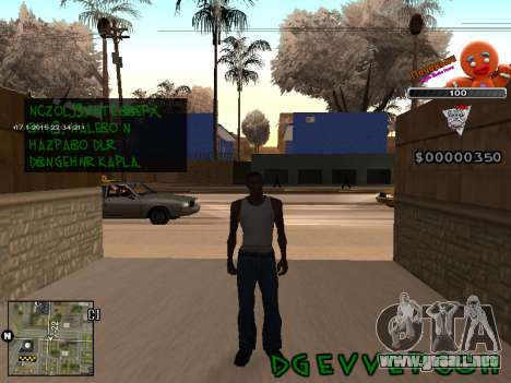 C-HUD Cookie para GTA San Andreas segunda pantalla