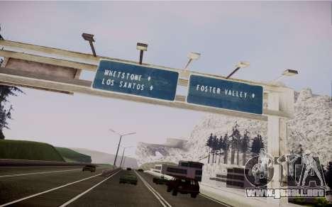 Fourth Road Mod para GTA San Andreas sexta pantalla