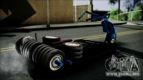 Vespa Gembel Extreme para GTA San Andreas vista posterior izquierda