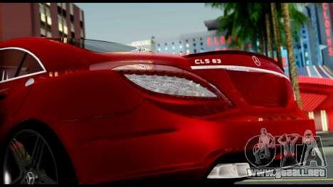 Mercedes-Benz CLS 63 AMG 2010 para vista lateral GTA San Andreas
