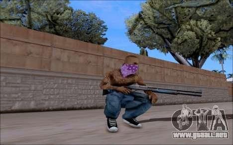 Blueline Gun Pack para GTA San Andreas segunda pantalla