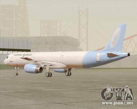 Airbus A321-200 Vorona Aviation para GTA San Andreas left
