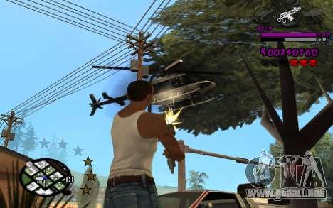 C-HUD by LoMoKo para GTA San Andreas tercera pantalla