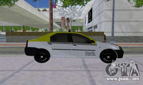 Dacia Logan Taxi para la visión correcta GTA San Andreas