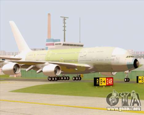 Airbus A380-800 F-WWDD Not Painted para GTA San Andreas left
