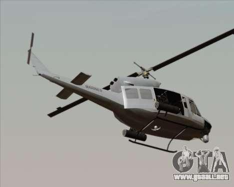 Bell UH-1N Huey USMC para GTA San Andreas left