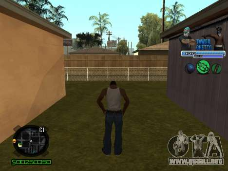 C-HUD для Ghetto para GTA San Andreas