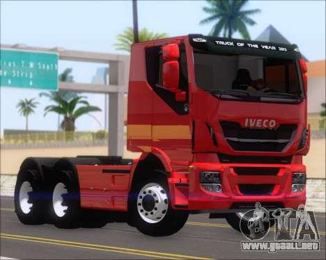 Iveco Stralis HiWay 6x4 para GTA San Andreas left