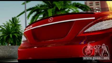 Mercedes-Benz CLS 63 AMG 2010 para la vista superior GTA San Andreas