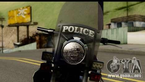Police Bike GTA 5 para GTA San Andreas vista hacia atrás