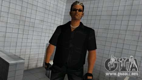 Tommy In Black para GTA Vice City segunda pantalla