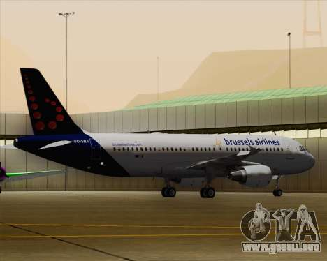Airbus A320-200 Brussels Airlines para vista inferior GTA San Andreas