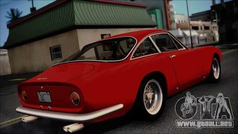 Ferrari 250 GT Berlinetta Lusso 1963 [ImVehFt] para GTA San Andreas vista posterior izquierda