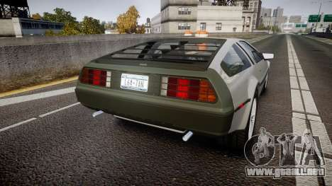 DeLorean DMC-12 [Final] para GTA 4 Vista posterior izquierda