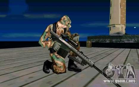Barret M107 para GTA San Andreas sucesivamente de pantalla