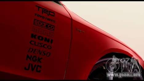 Audi S4 2010 Blacktop para GTA San Andreas vista posterior izquierda