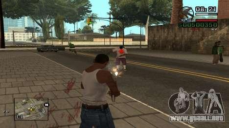 C-HUD By.Kidd para GTA San Andreas segunda pantalla