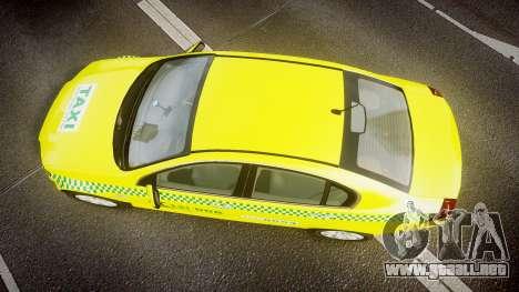 Holden Commodore Omega Series II Taxi v3.0 para GTA 4 visión correcta