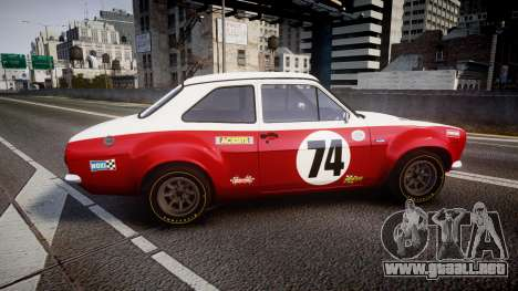 Ford Escort RS1600 PJ74 para GTA 4 left