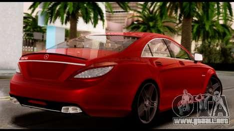 Mercedes-Benz CLS 63 AMG 2010 para visión interna GTA San Andreas